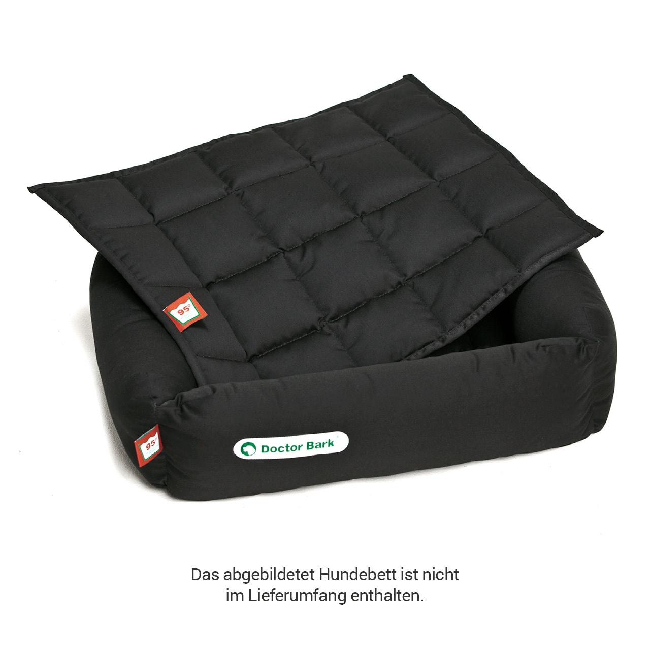 gepolsterte Einlegedecke für Doctor Bark Hundebett Gr. S - schwarz