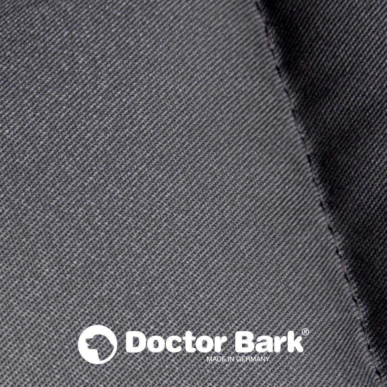 eckiges Doctor Bark Hundebett mit Rand - grau