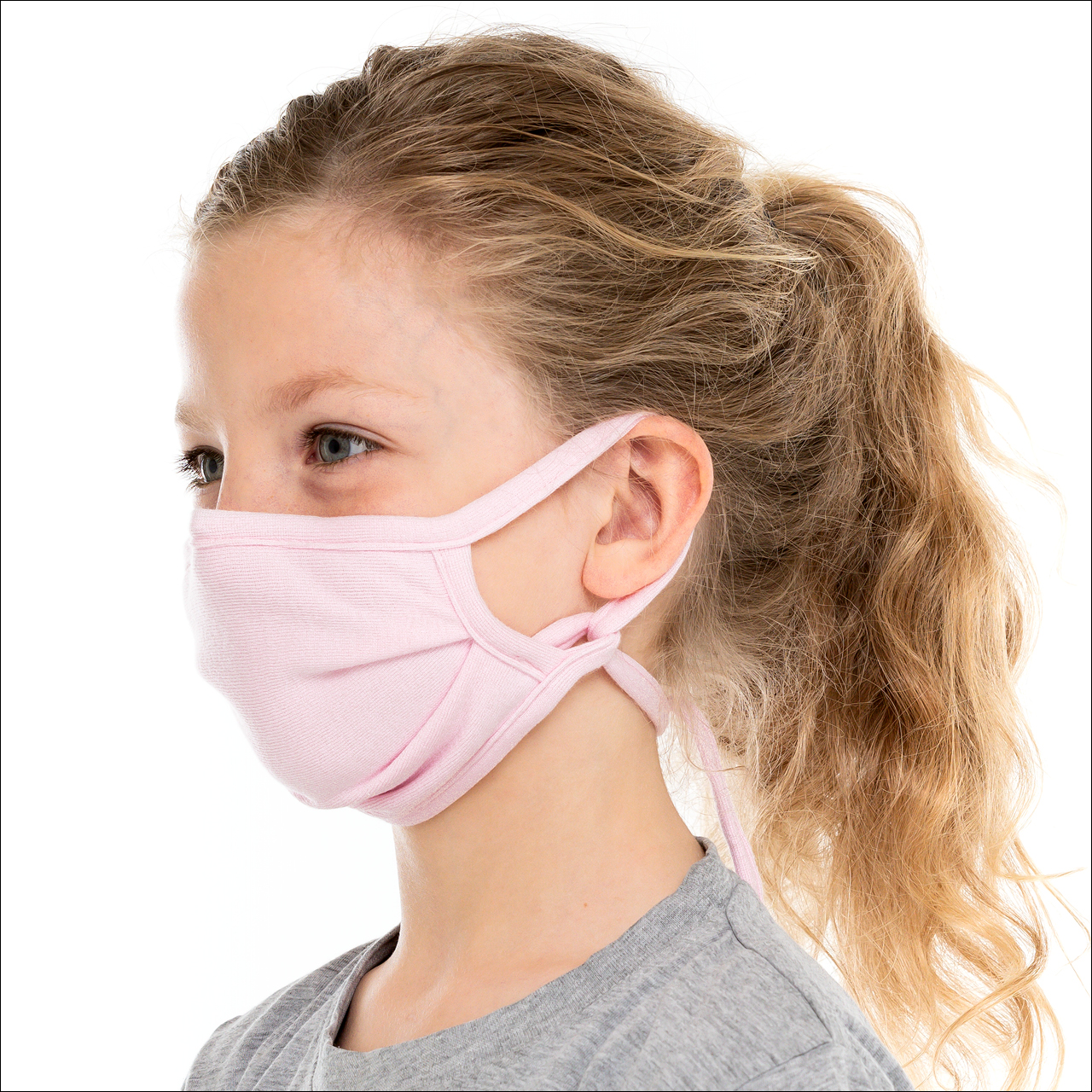 Kinder Mund- und Nasenmaske - rosa - doppellagig