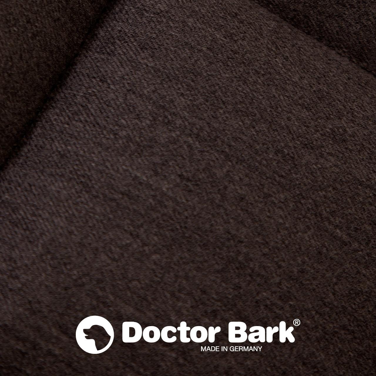 eckiges Doctor Bark Hundebett mit Rand Gr. M - braun
