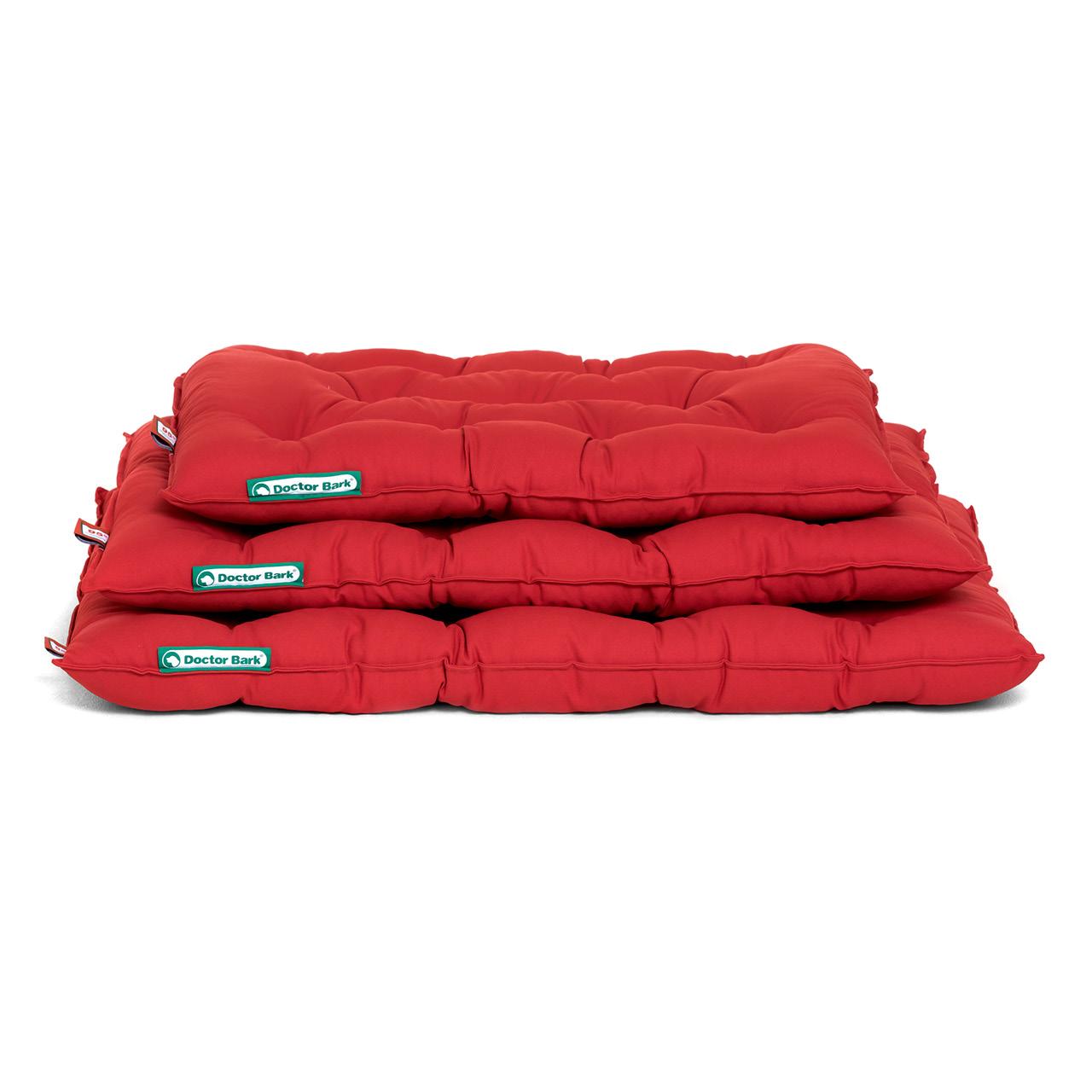 orthopädisches Einlegekissen für Doctor Bark Hundebett - tomate rot