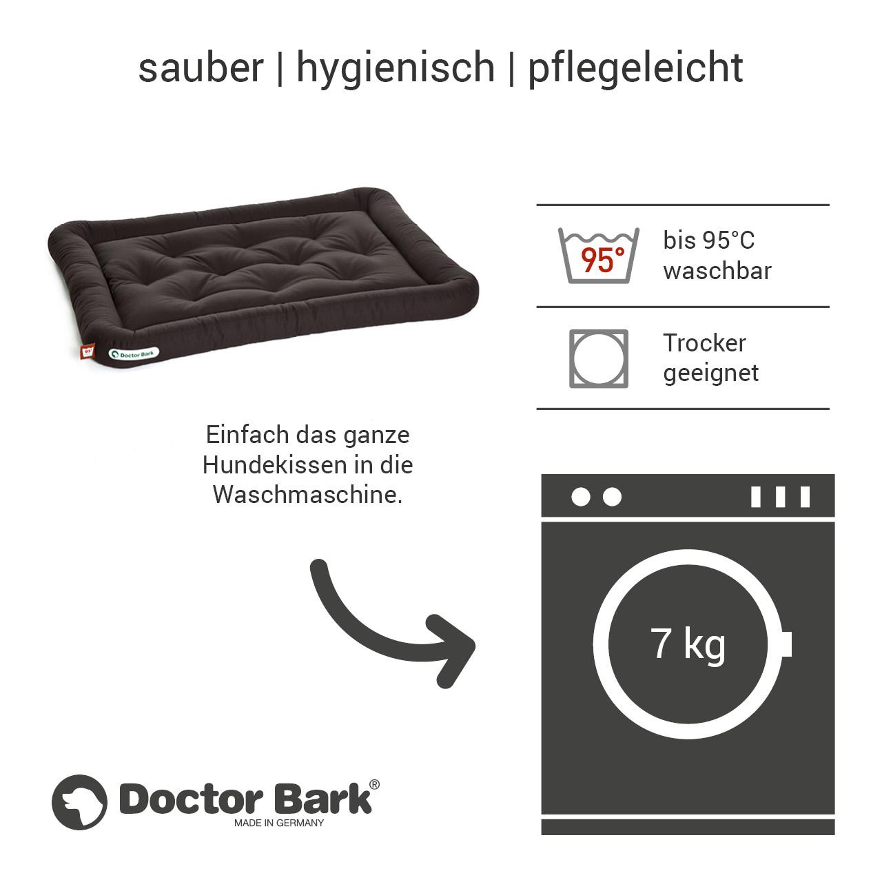 Lounge-Hundekissen / Hundebett orthopädisch Doctor Bark waschbar braun - Gr. L