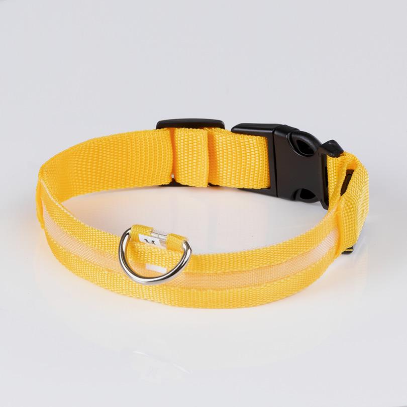 Leuchthalsband M gelb