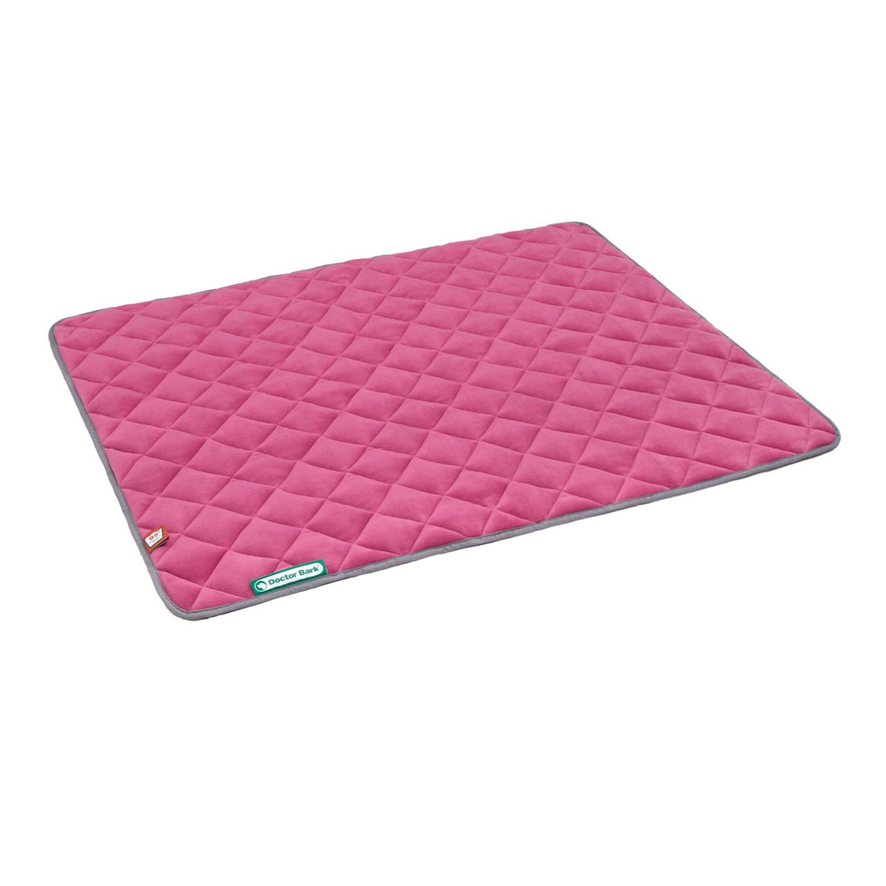 Fleece Wendedecke hot pink melange - hellgrau L