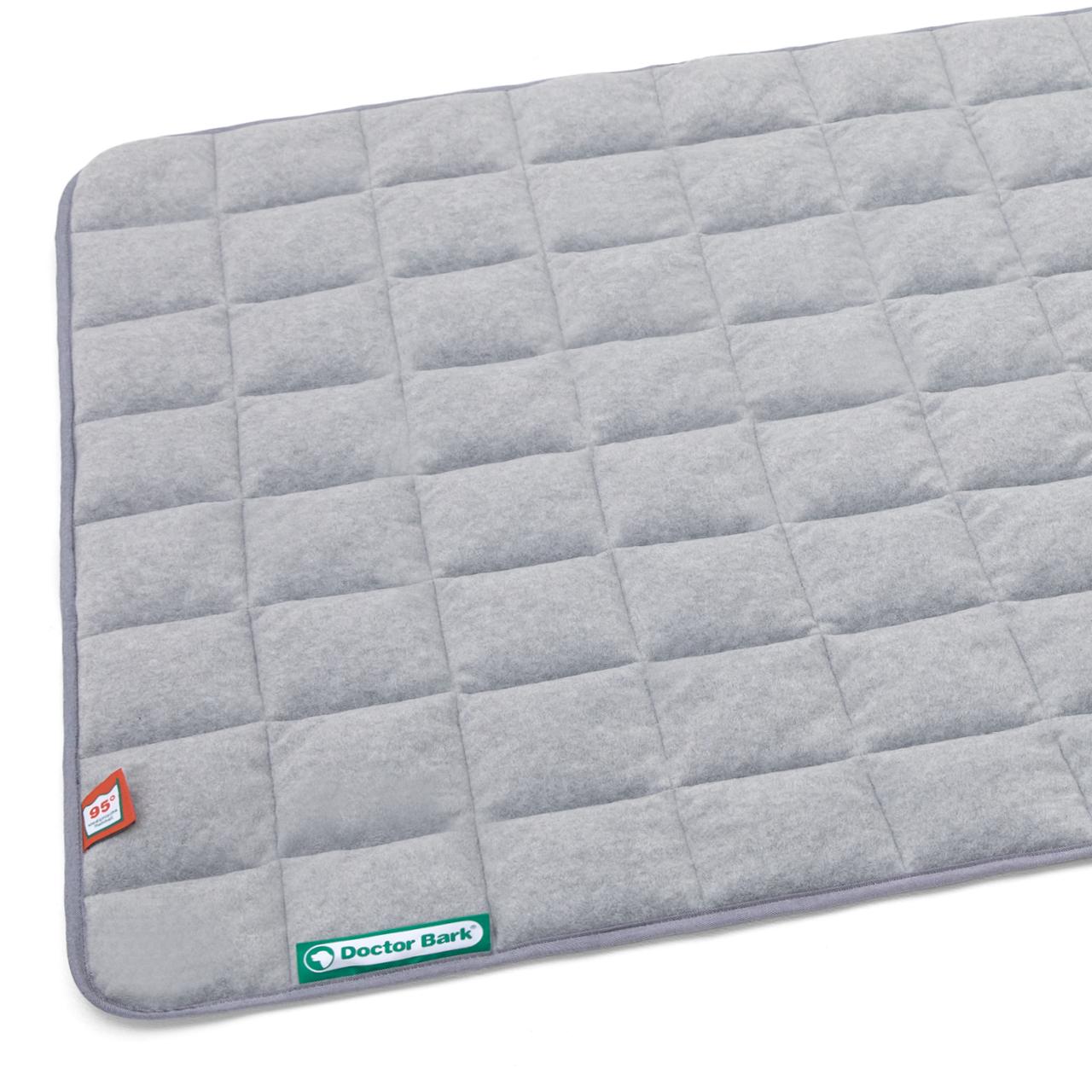 Fleece - Wendedecke grau melange - hellgrau XL