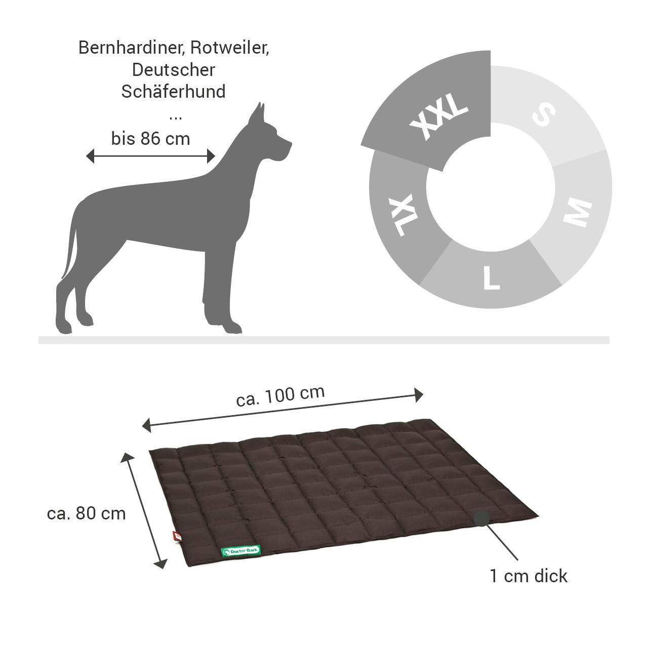 gepolsterte Einlegedecke für Doctor Bark Hundebett Gr. XXL - braun