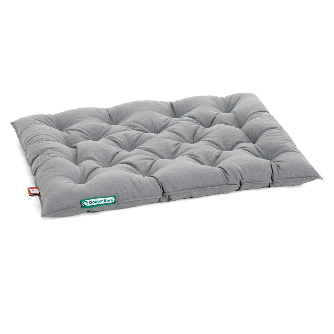 SET Bett + Einlegekissen ORTHOPÄDISCH grau melange L