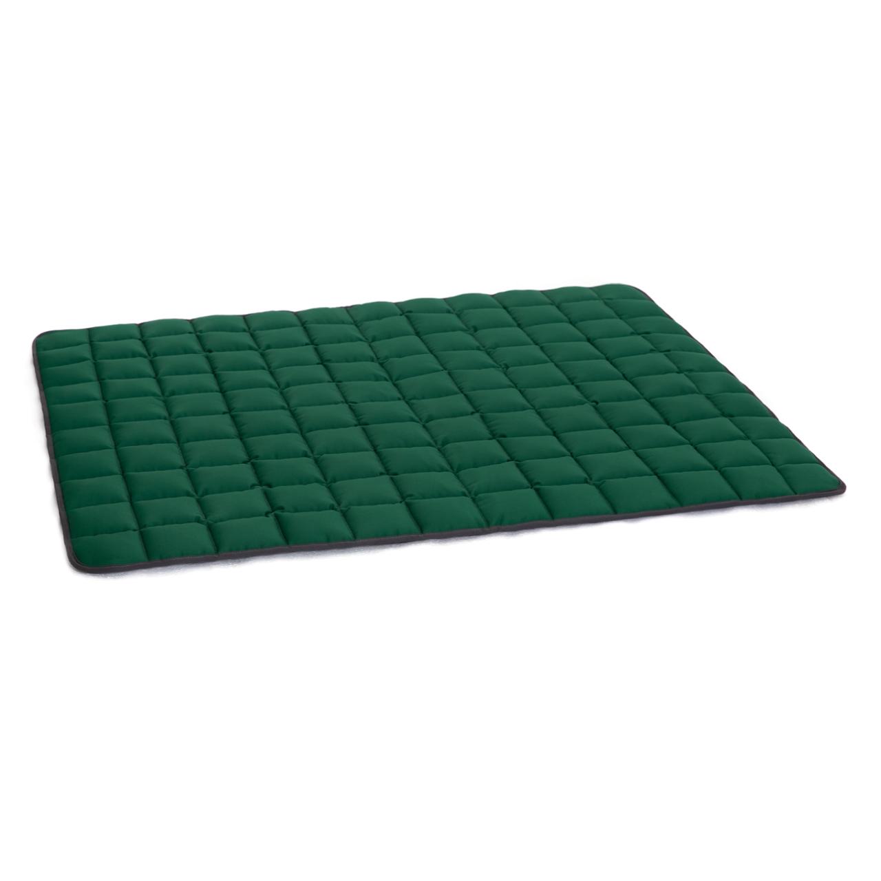 Wende-Steppdecke grau - grün XL