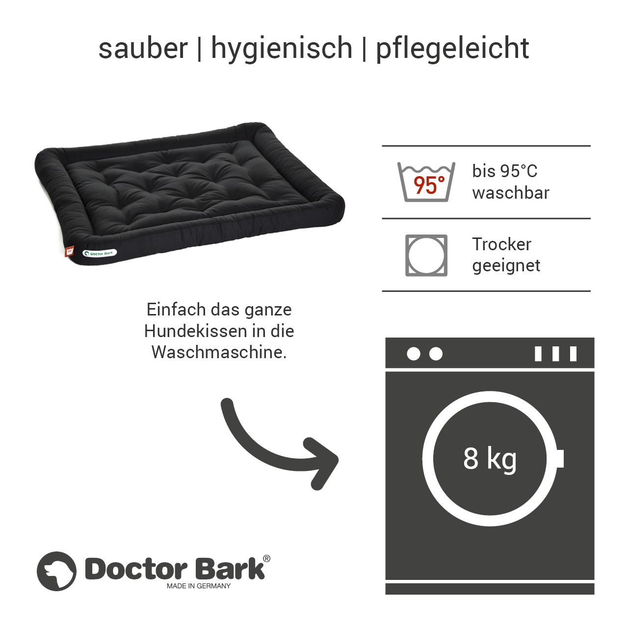 Lounge-Hundekissen / Hundebett orthopädisch Doctor Bark waschbar schwarz - Gr. XL