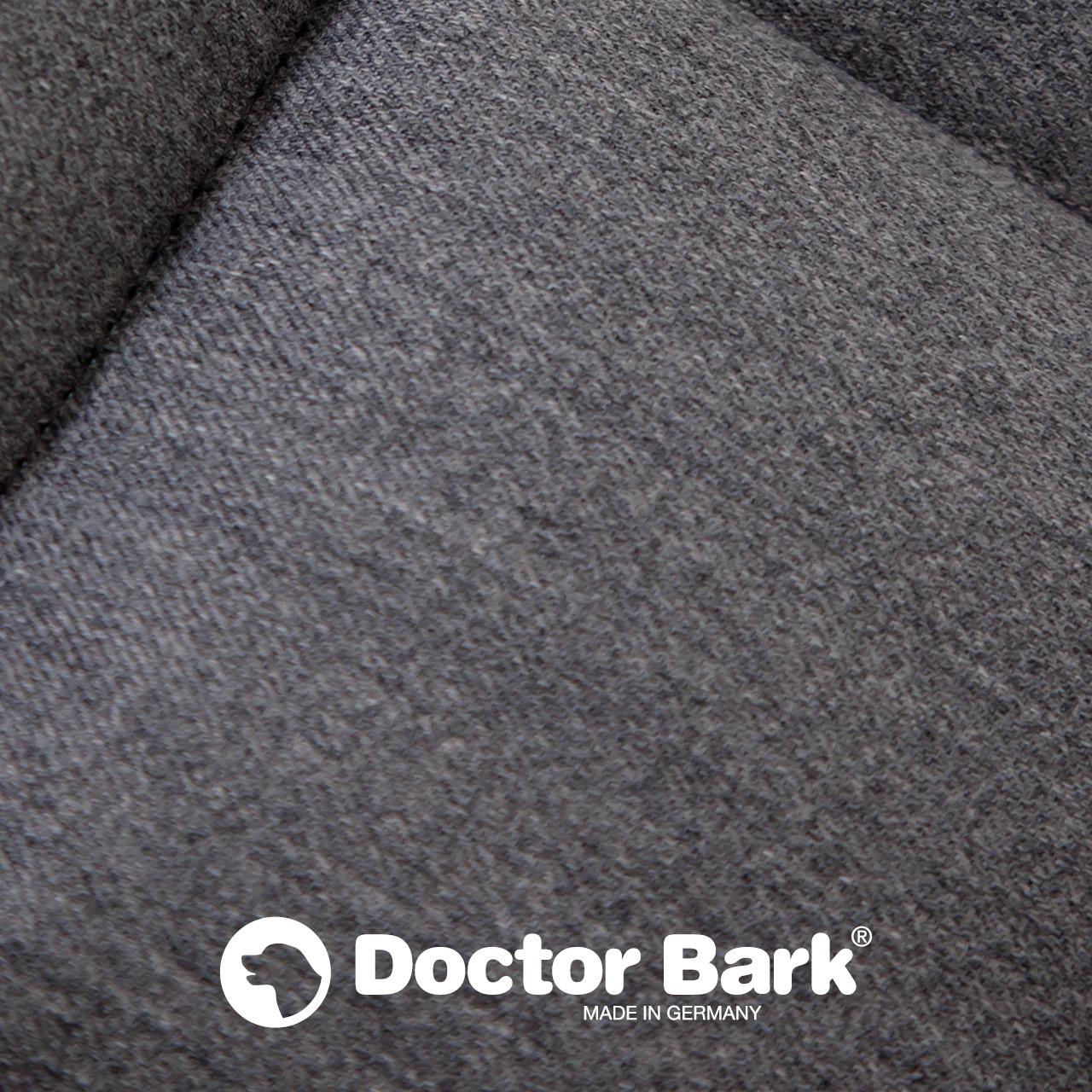 Doctor Bark - Autoschondecke für Hunde - Rückbank 3-Sitz - grau